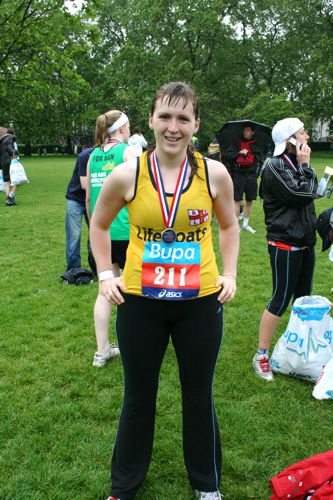 Melissa running 10k for RNLI 26 May 08