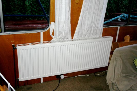 New radiator in saloon