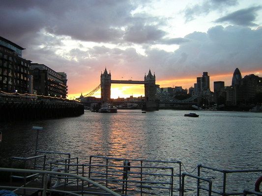 Gorgeous sunset over Tower Bridge