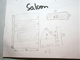 Saloon cover plan
