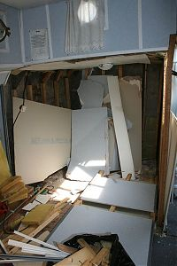 Bunkbed room destruction - fully demolished