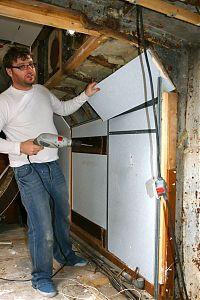 James pulling down walls