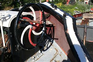 Anchor winch spiral after white paint