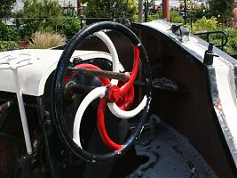 Anchor winch spiral after red paint