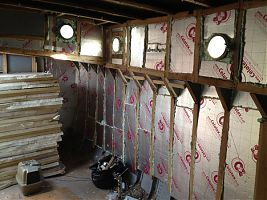 Insulation on the starboard side