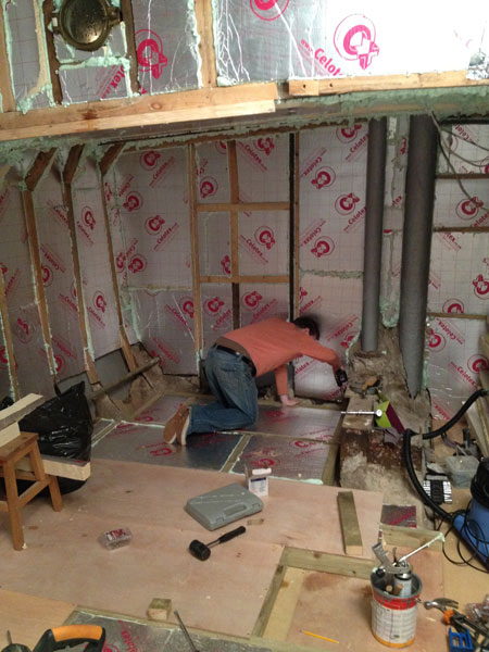 At Home On Hendrik Bedroom Work The Subfloor Amp First Walls