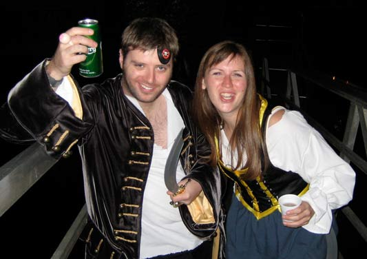 James and Melissa as pirates